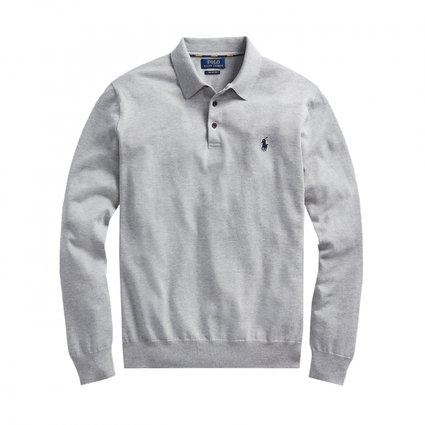 Polo Ralph Lauren L/S Polo Knit Grey