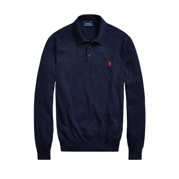 Polo Ralph Lauren L/S Polo Knit Navy