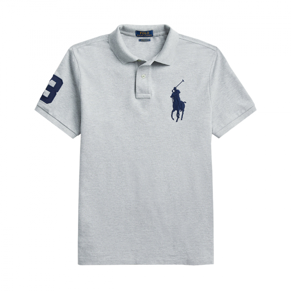Polo Ralph Lauren Large Logo PP Polo Shirt Grey Heather