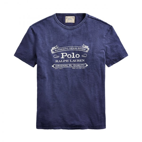 Polo Ralph Lauren Logo Washed T-Shirt Navy