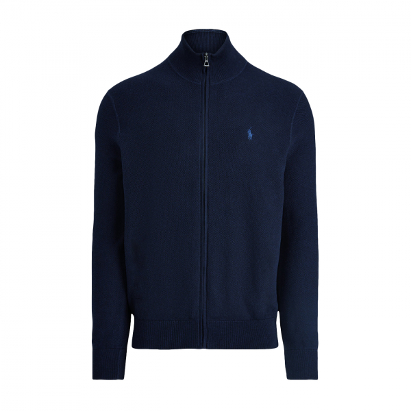 Polo Ralph Lauren Pima Cotton Full Zip Sweat Navy