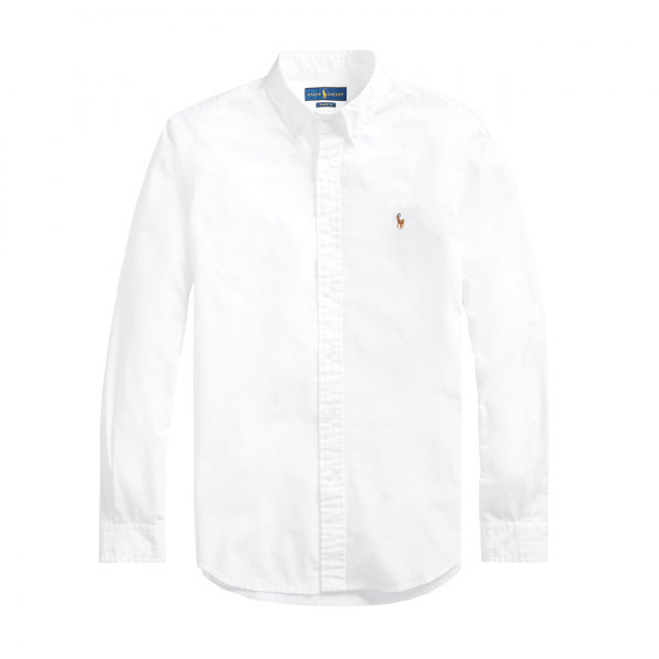 Polo Ralph Lauren Slim Fit Chambray Shirt White