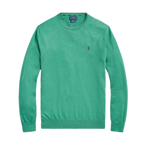 Polo Ralph Lauren Slim Fit Pima Cotton Jumper Potomac Green Heather