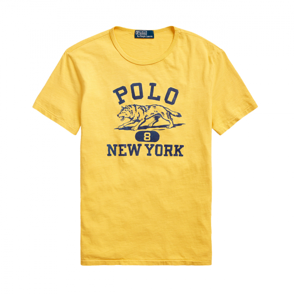 Polo Ralph Lauren Wolf Crew T-Shirt Gold
