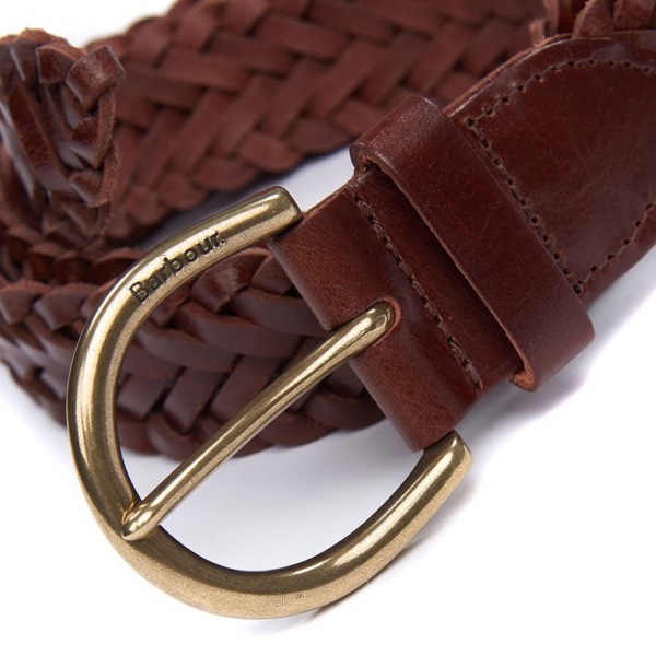 Barbour Chilton Leather Belt Brown