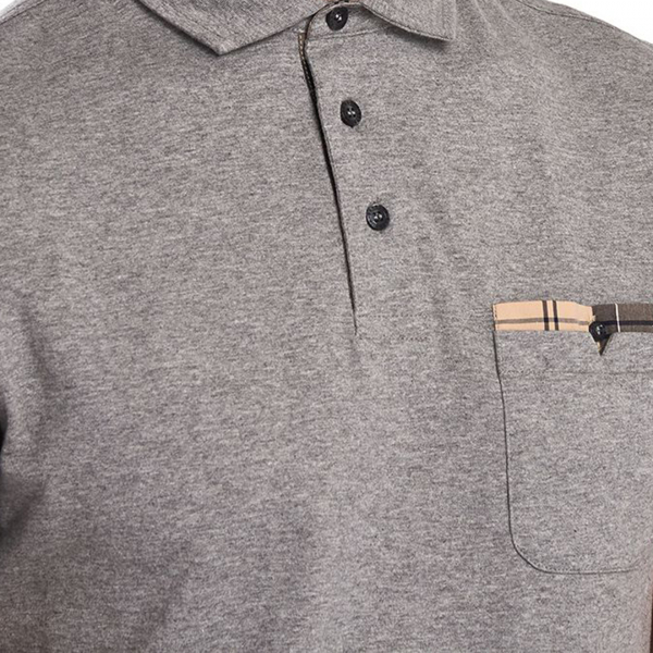 Barbour Corpatch Polo Shirt Grey Marl