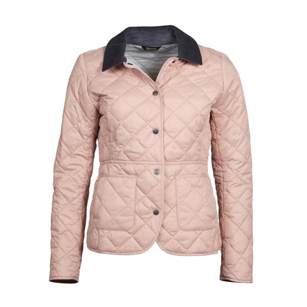Barbour Deveron Quilt Jacket Pale Pink