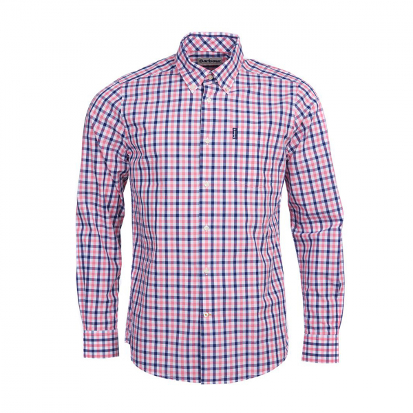Barbour Gingham 15 Tailored Fit Shirt Pink