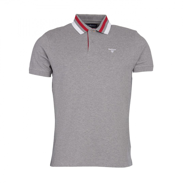 Barbour Hawkeswater Tipped Polo Shirt Grey Marl