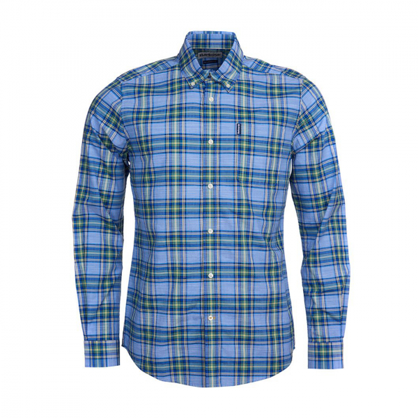 Barbour Highland Check 26 Tailored Fit Shirt Sky Blue