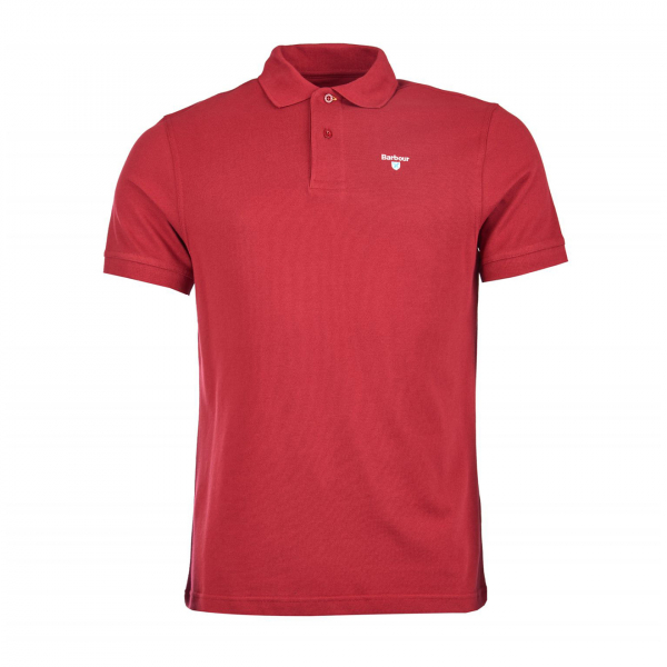 Barbour Sports Polo Biking Red