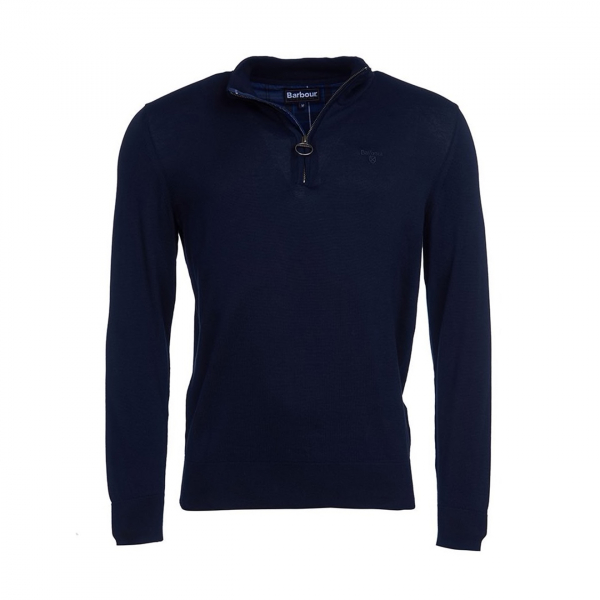 Barbour Tain Half Zip Knit Navy