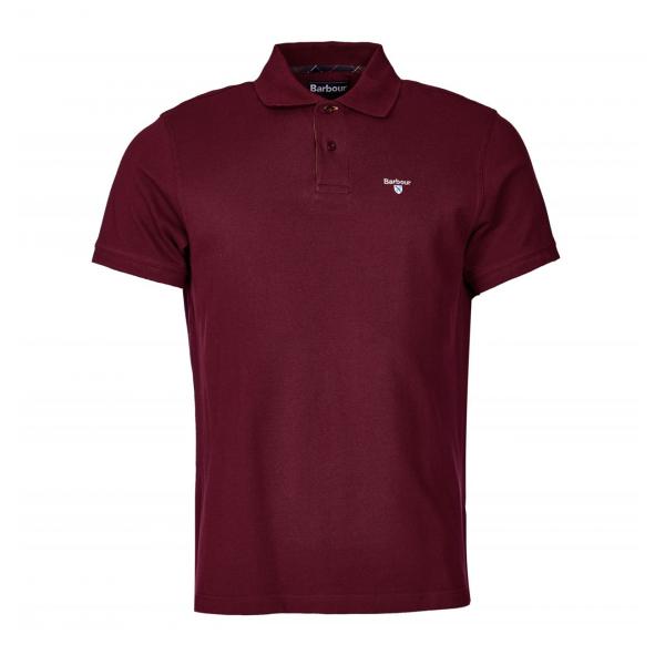 Barbour Tartan Pique Polo Shirt Ruby