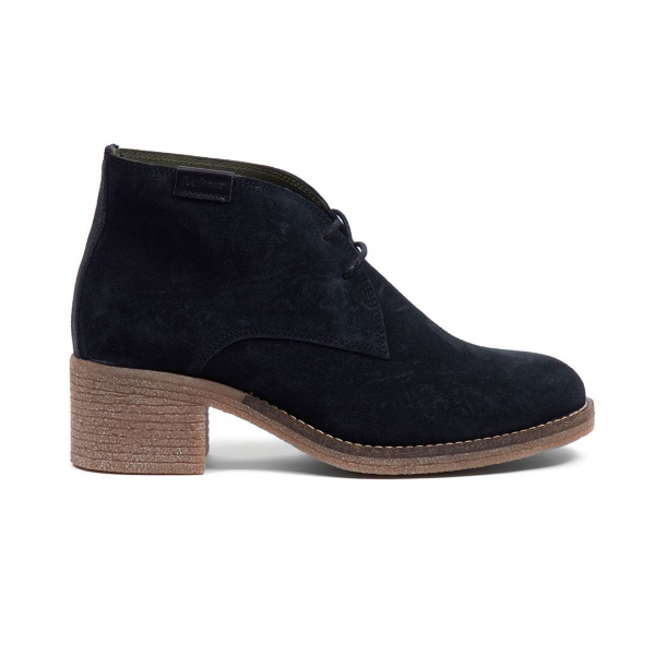 Barbour Womens Edele Boot Black Suede
