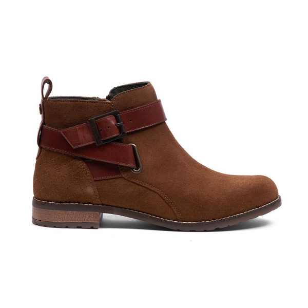 Barbour Womens Jane Boot Cognac Suede