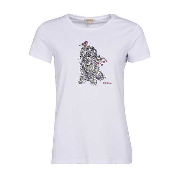 Barbour Womens Patterson T-Shirt White