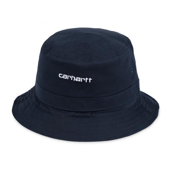 Carhartt Script Bucket Hat Dark Navy / White