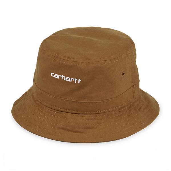 Carhartt Script Bucket Hat Hamilton Brown / White