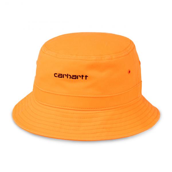 Carhartt Script Bucket Hat Pop Orange / Black