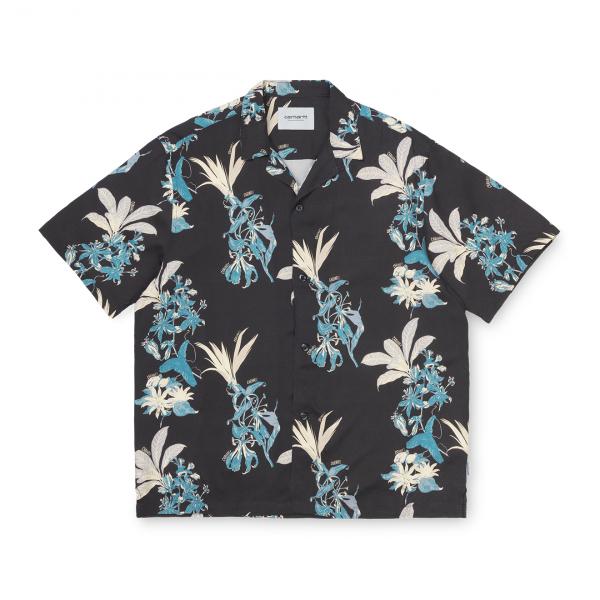 Carhartt Hawaiian Floral Shirt Black