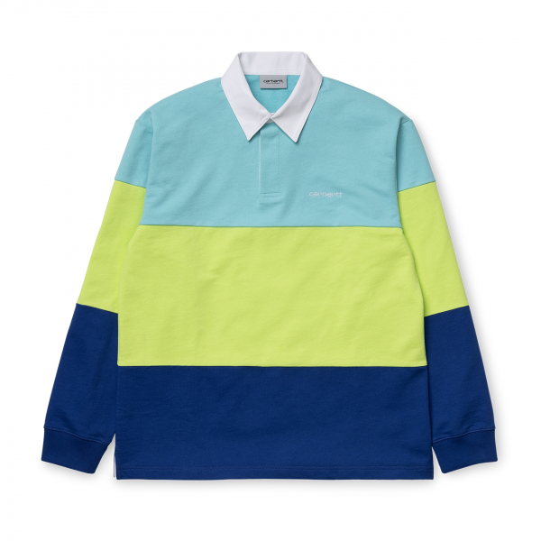 Carhartt L/S Newport Rugby Shirt Window / Lime / Submarine