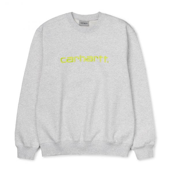 Carhartt Sweat Ash Heather / Lime