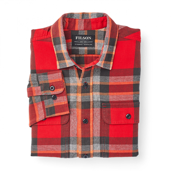 Filson Scout Shirt Red / Black / Flame Plaid