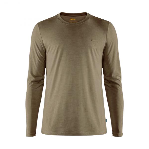 Fjallraven Abisko Wool LS T-Shirt Light Olive