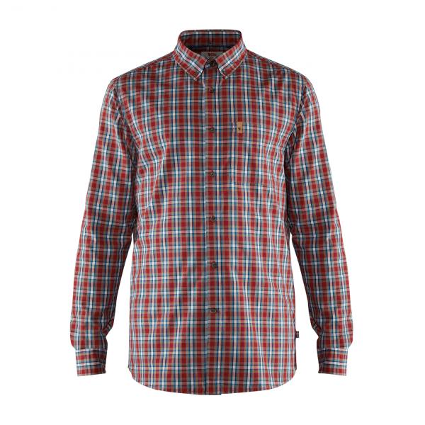 Fjallraven Ovik LS Shirt Deep Red