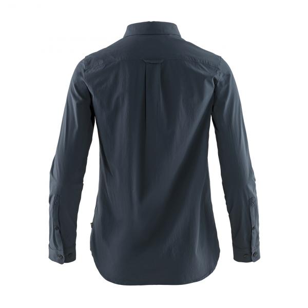 Fjallraven Womens Ovik Lite Shirt LS Navy