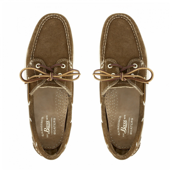 GH Bass Jetty II Boat Shoe Mid Brown Suede