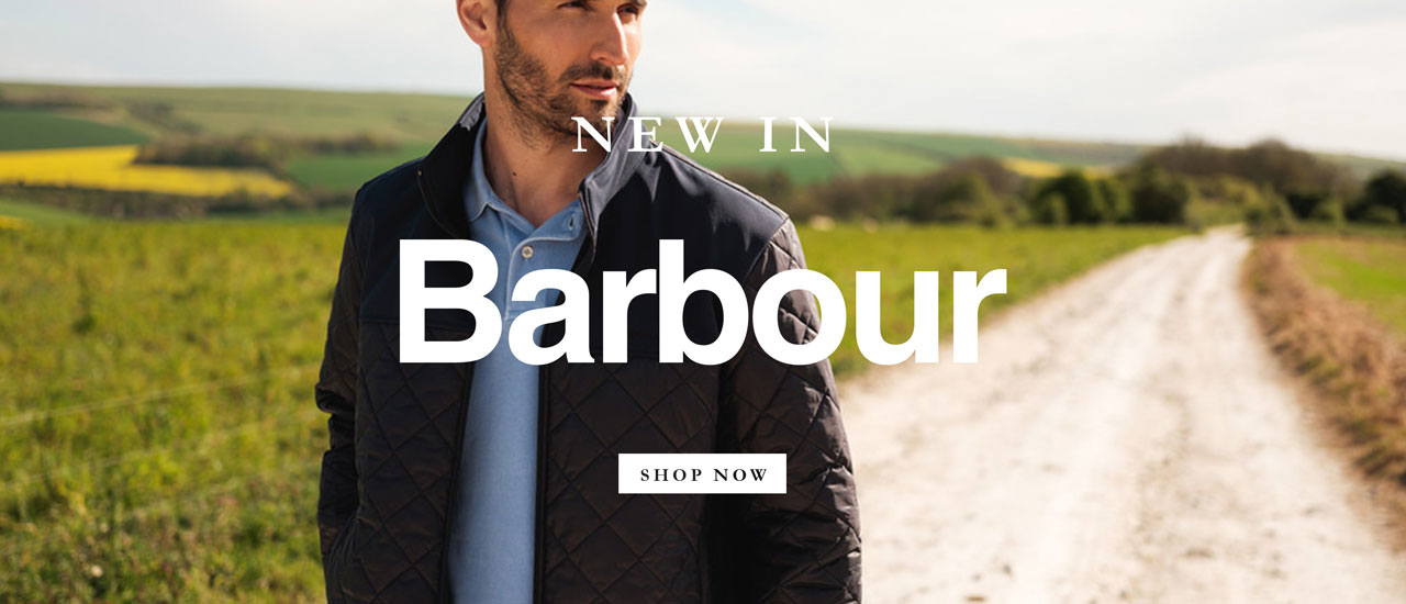 Man Wearing Barbour Highland Checked Shirt in Sky Blue