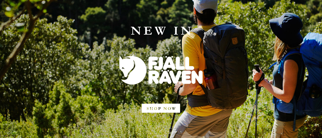Hiker Fully Equiped With Fjallraven Backpack, Clothing and Accessories