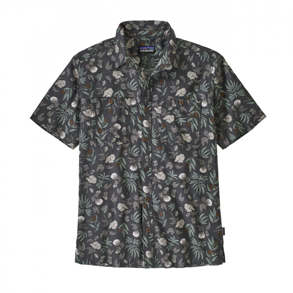 Patagonia Back Step Shirt Fiber Flora Multi/Forge Grey