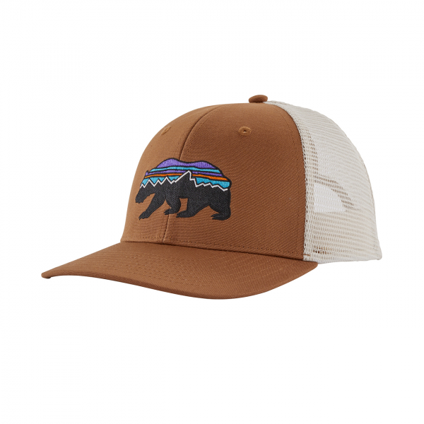 Patagonia Fitz Roy Bear Trucker Hat Earthworm Brown