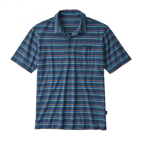 Patagonia Organic Cotton Lightweight Polo Pacific Stripe/Stone Blue