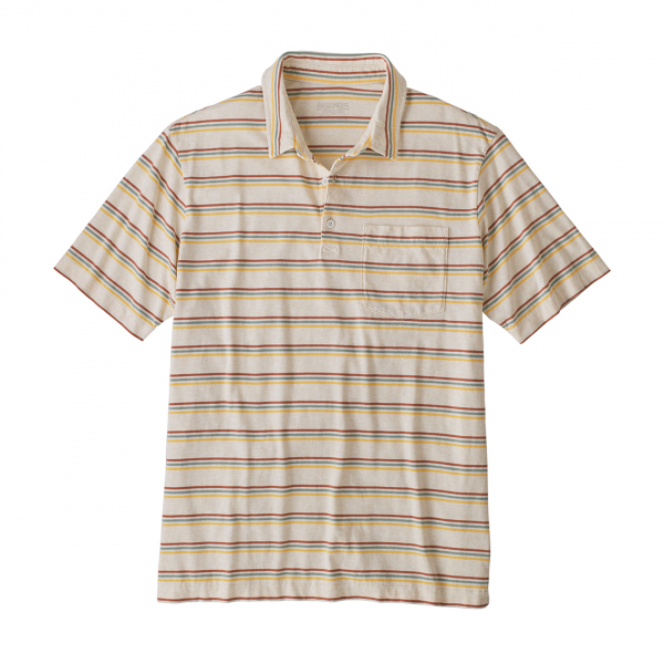 Patagonia Organic Cotton Lightweight Polo Pacific Stripe/White Wash