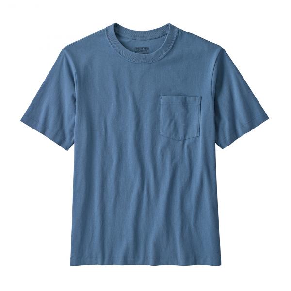 Patagonia Organic Cotton Midweight Pocket Tee Pigeon Blue