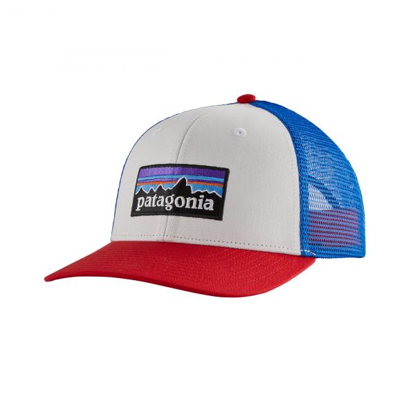 Patagonia P-6 Logo Trucker Hat White