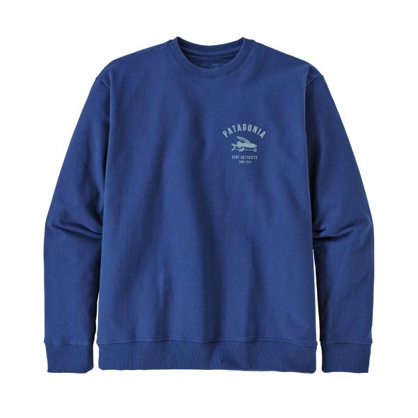 Patagonia Surf Activists Uprisal Crew Sweatshirt Superior Blue