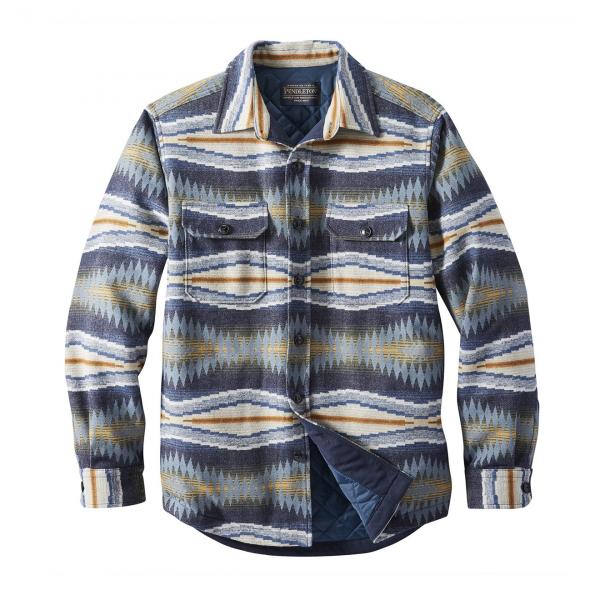 Pendleton Jacquard Quilted Shirt Jacket Crescent Bay