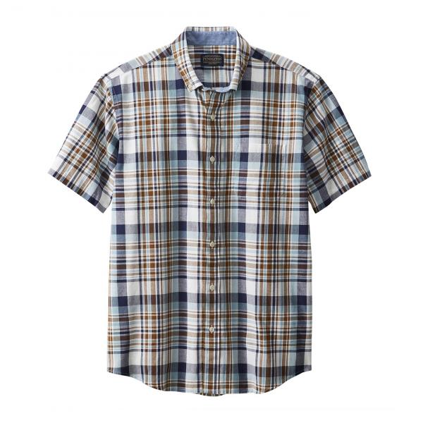 Pendleton SS Madras Shirt Blue Multi Plaid