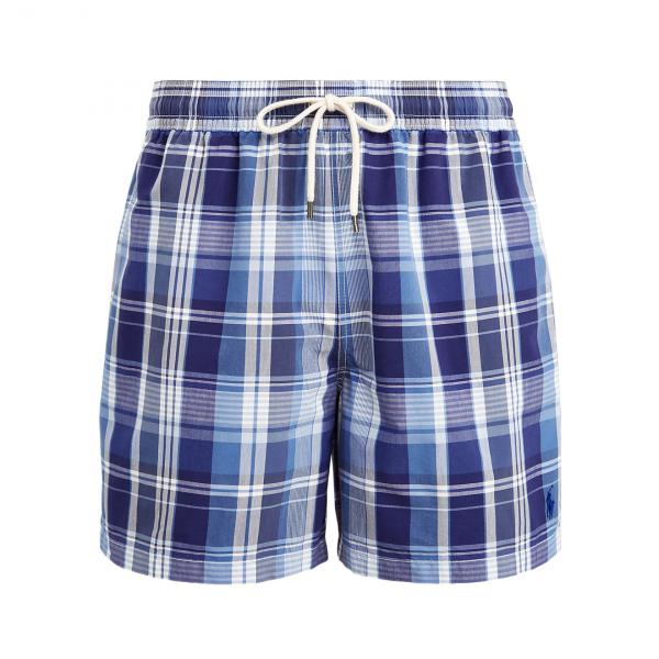 "Polo Ralph Lauren 5"" Traveller Swim Short Saranac Blue Multi"