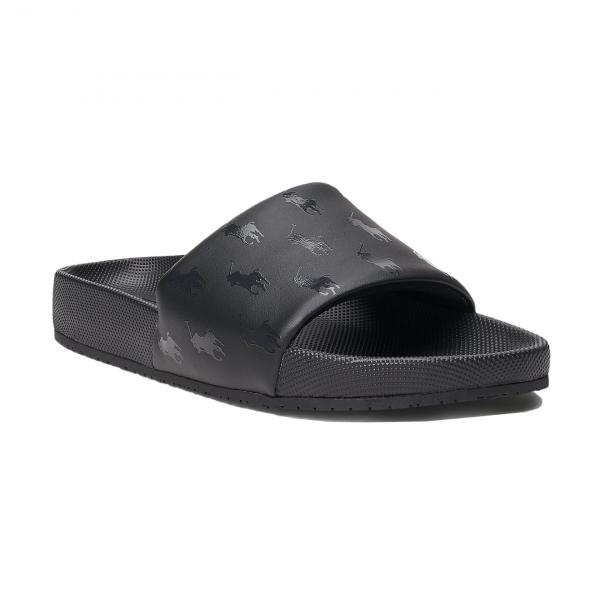 Polo Ralph Lauren Cayson Pony Slide Sandal Black