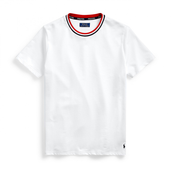 Polo Ralph Lauren Crew Neck Sleep Top White