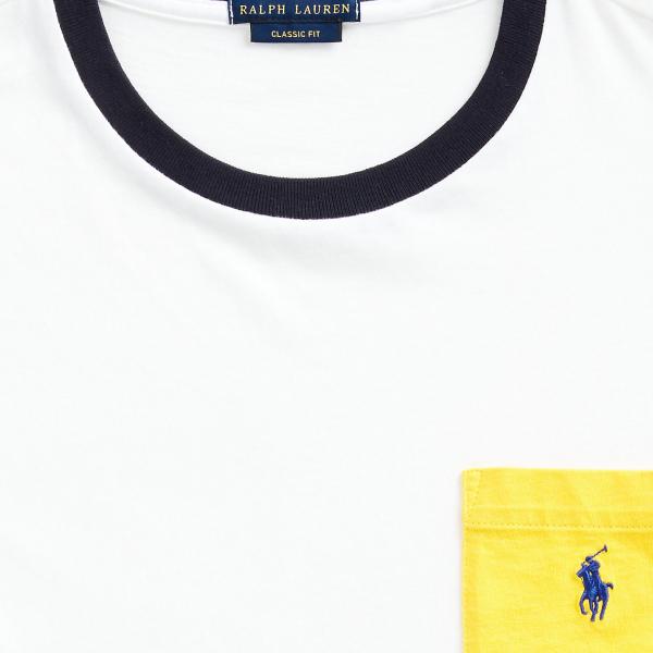 Polo Ralph Lauren Custom Slim Fit Pocket T-Shirt White / Multi