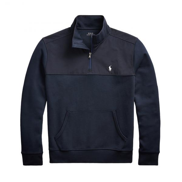 Polo Ralph Lauren Hybrid Half Zip Pullover Sweat Aviator Navy