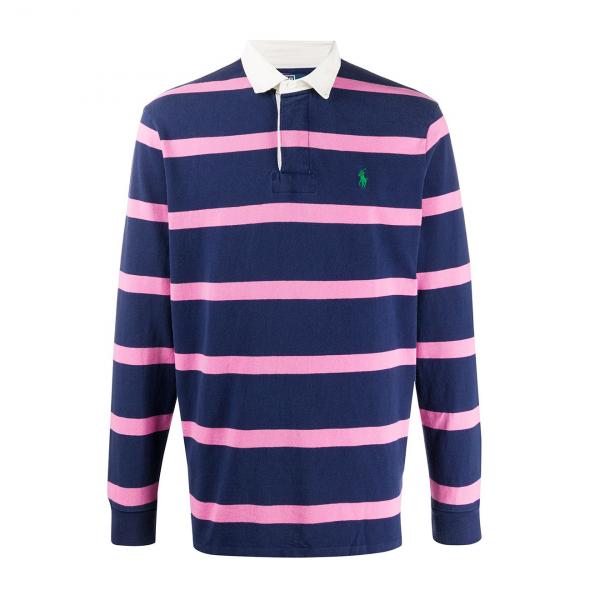 Polo Ralph Lauren Rugby Shirt Saranac Lake Blue Stripe