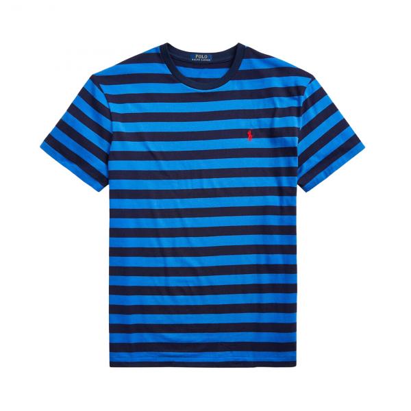 Polo Ralph Lauren Striped Crew T-Shirt Navy / Royal