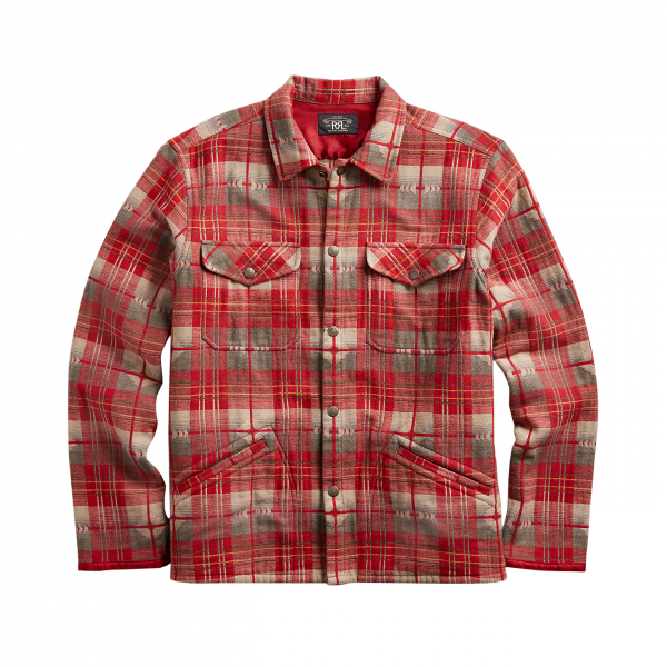 RRL by Ralph Lauren Jacquard Workshirt RI Red / Grey